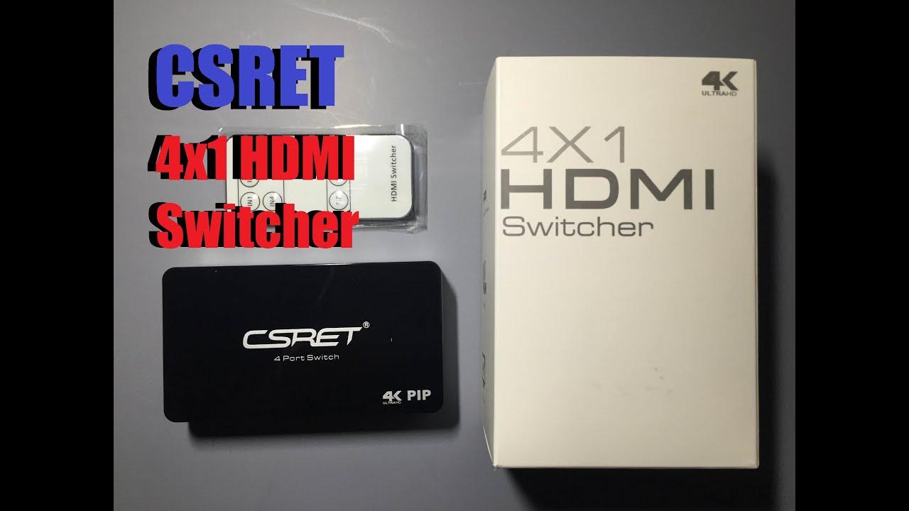 CSRET Digital 4K 4 Port HDMI Switch