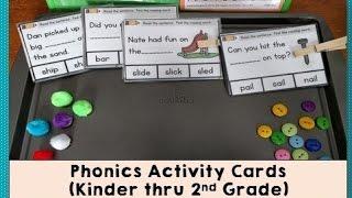 Phonics Activity Cards (blends, digraphs, long vowels)