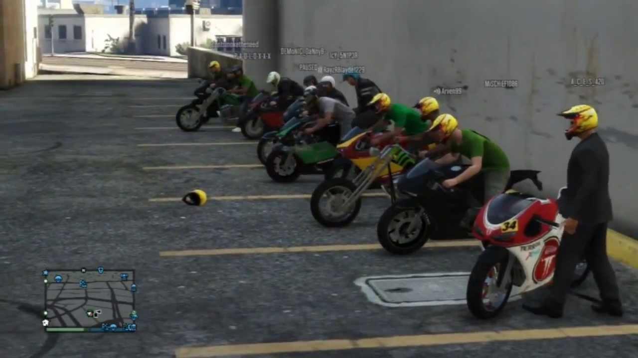 GTA ONLINE crew bike ride out ( Ganja Outlaws ) thumbnail