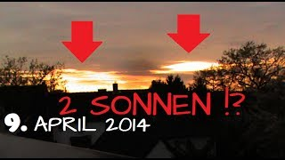 2nd SUN visible at SUNSET in Marl, Germany | 9th APRIL 2014