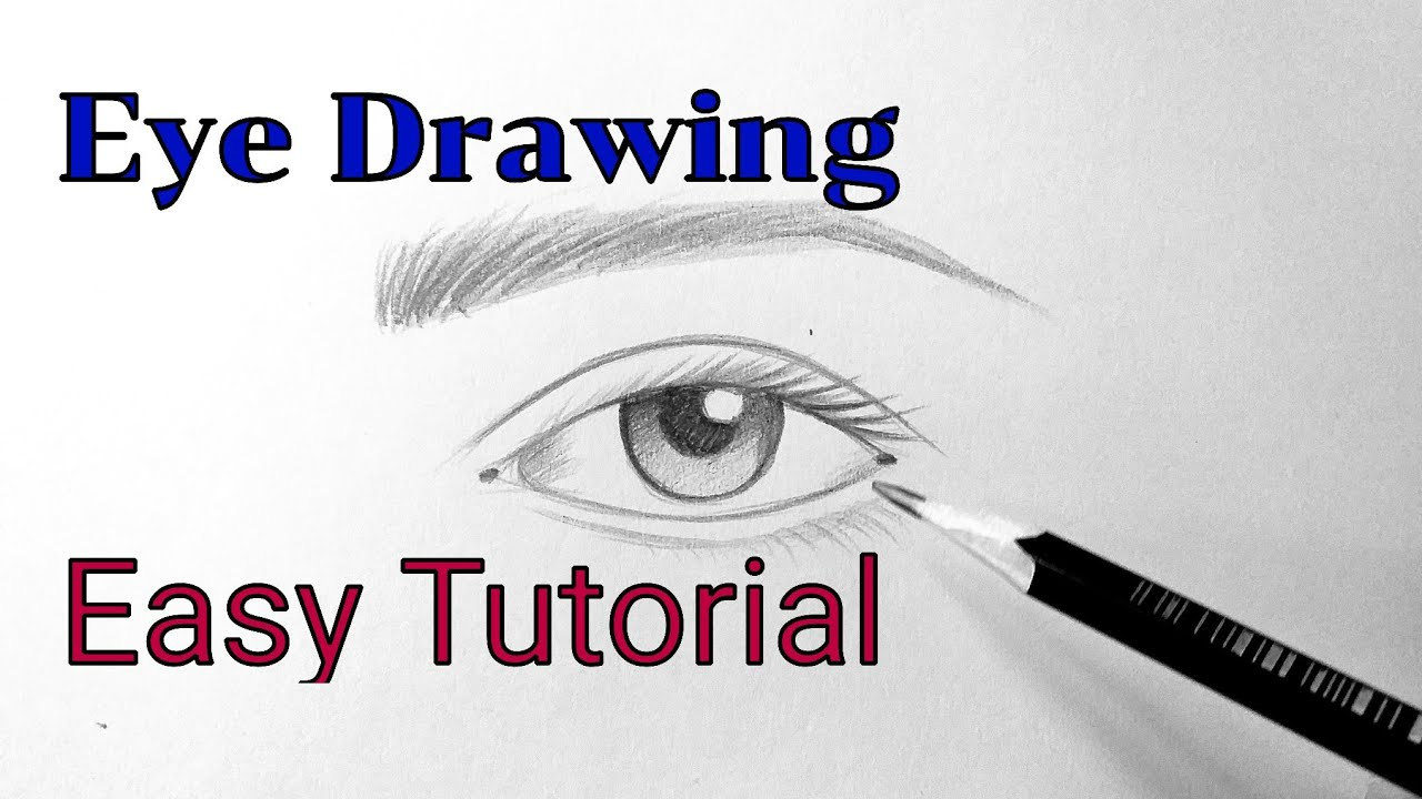 Learn how to draw an eye easy with pencil Eye drawing easy step by step tutorial for beginners