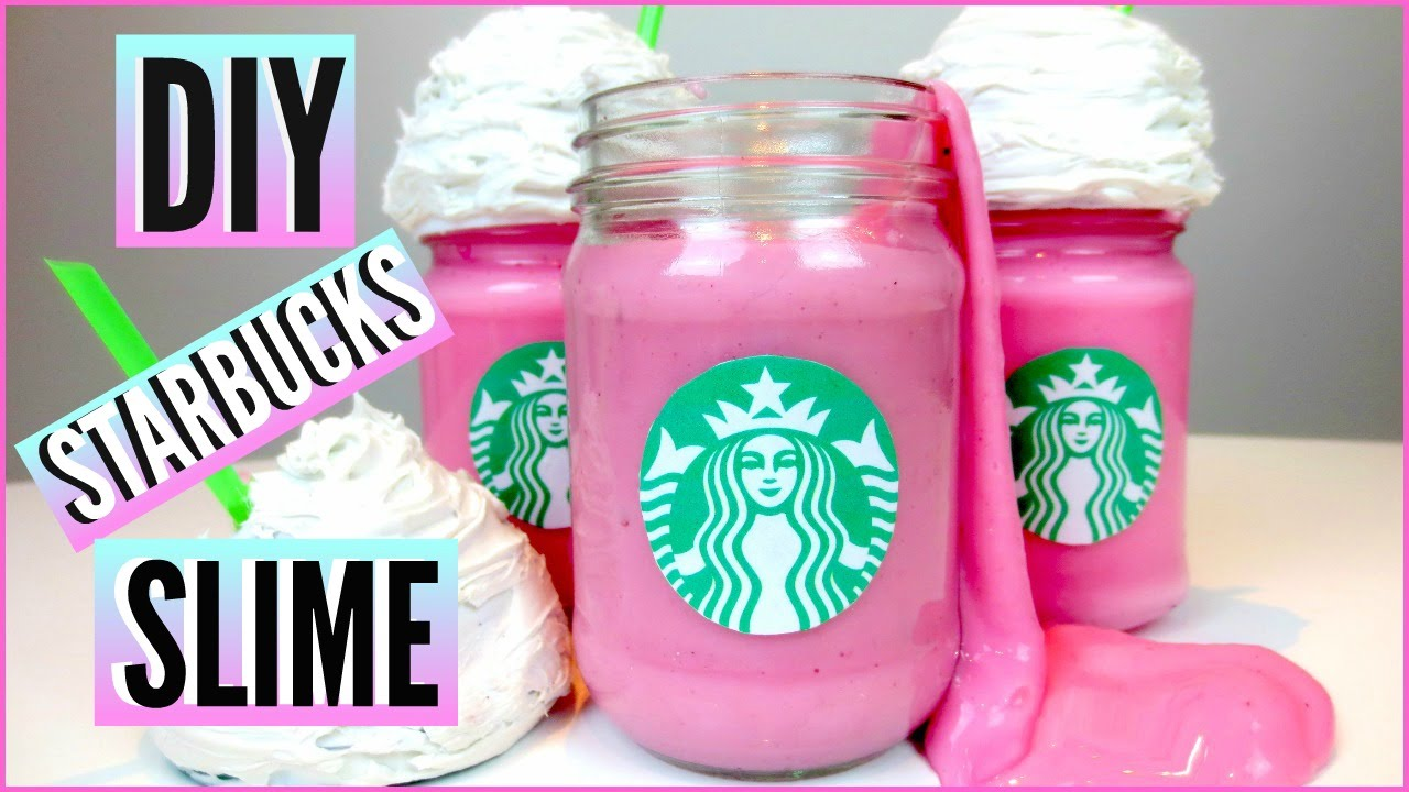 Case Design diy starbucks phone case : DIY STARBUCKS Cotton Candy Frappuccino SLIME! : How To Make Slime and ...