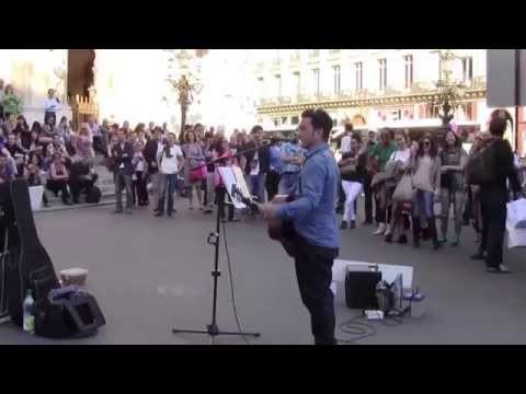 'Imagine' by John Lennon, performed by Youri Menna, Paris, 10/18/2014