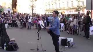 """Imagine"" by John Lennon, performed by Youri Menna, Paris, 10/18/2014"