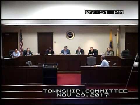 Long Hill Township Committee Nov 29 2017