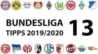 Bundesligatipps 13.Spieltag 2019/2020
