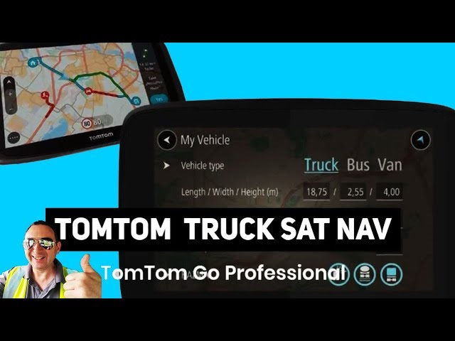 TomTom Truck Sat Nav British Trucking GPS for Lorry Drivers