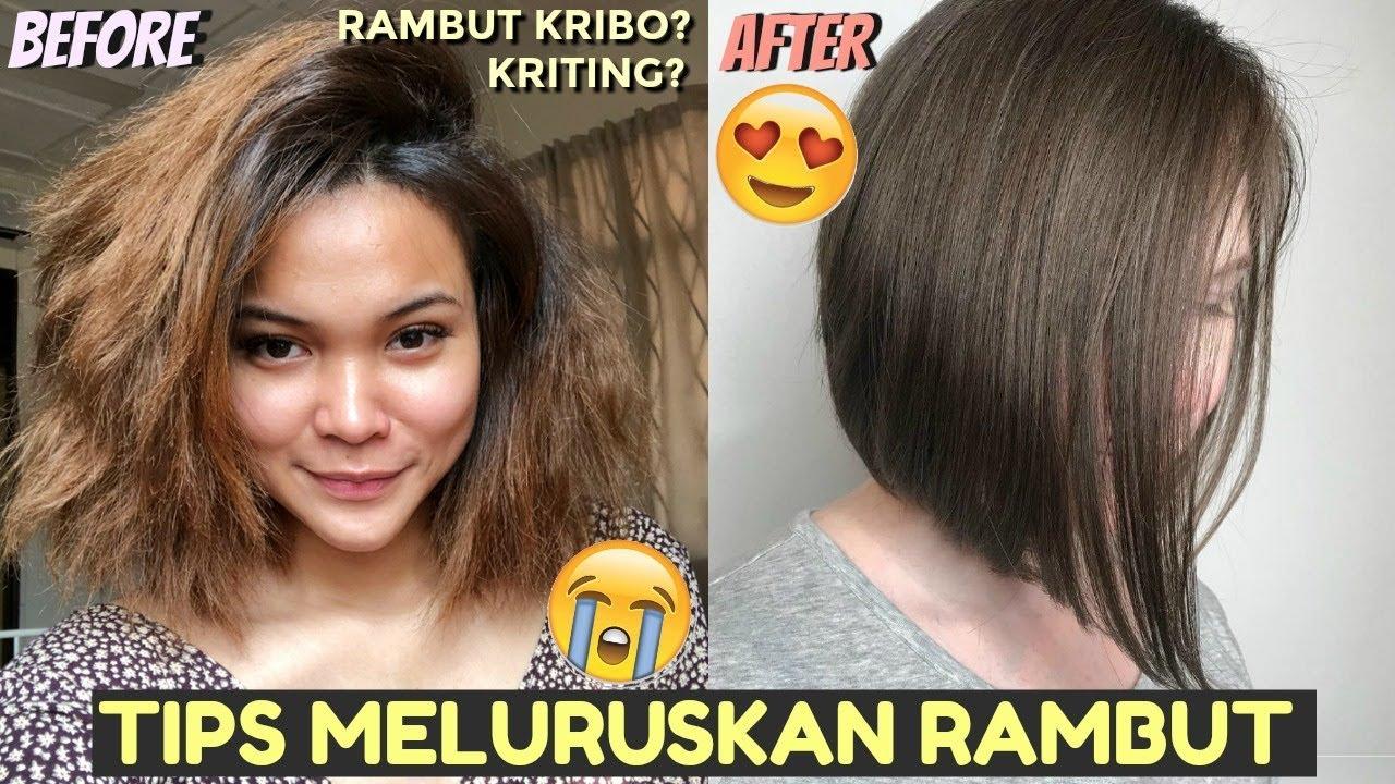 Tips Meluruskan Rambut Kriting Permanent Dalam 1 Minggu Dinda Shafay Bahasa Youtube