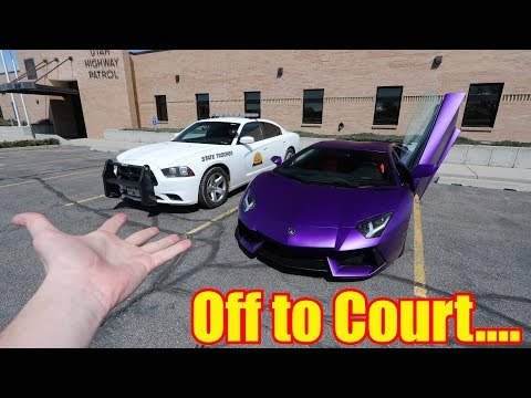 Removing my illegal Aventador Mods and Going to Court