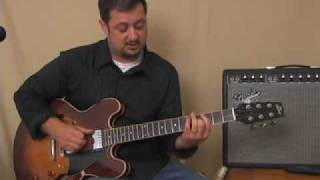 Guitar Lessons - Learn guitar easy triads & chord inversions rhythm lesson - E minor Barre shape