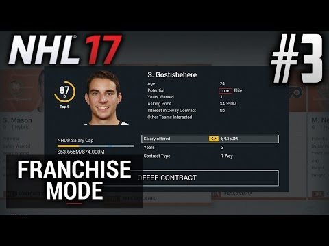 NHL 17 Franchise Mode | Philadelphia Flyers | EP3 | OFFSEASON (Season 1)