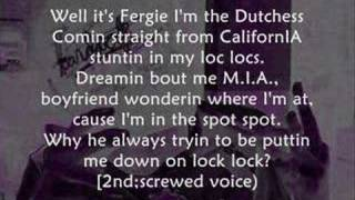 Nelly ft Fergie - Party People +lyrics