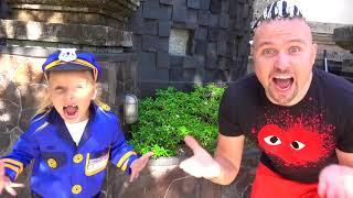 Alicia y papá perdido gatito y Eva