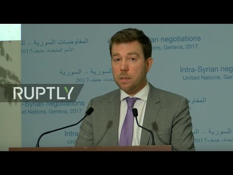 LIVE: New round of Syria peace talks in Geneva: statement by Michael Contet