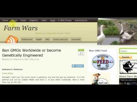 6/3/2013 - George Barnes of SkyderALERT & Barbara Peterson of FarmWars.info
