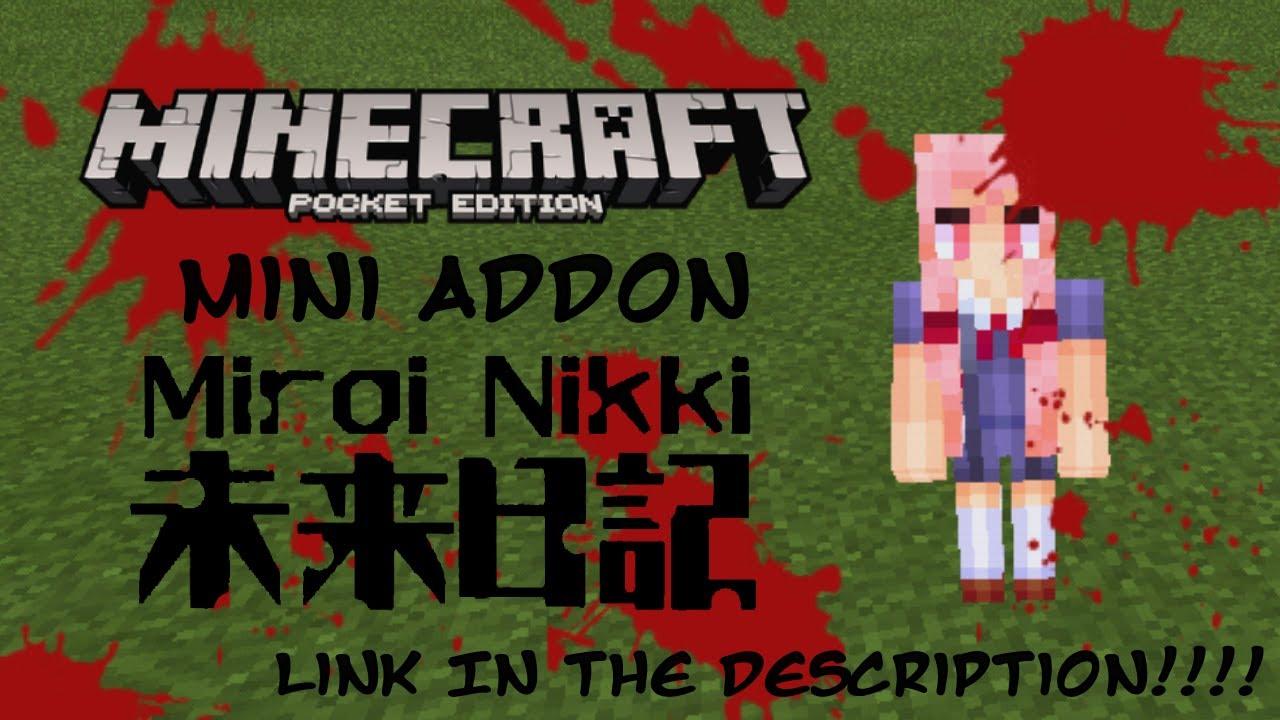 Minecraft PE X Mini Addon Mirai NikkiYuno Gasai ONLY YouTube - Skin para minecraft de yuno