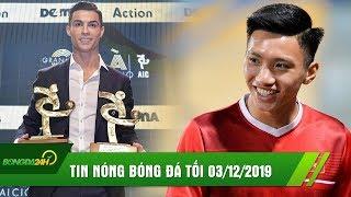 TIN BÓNG ĐÁ TỐI 3/12 | Ronaldo giành cú đúp DANH HIỆU, Văn Hậu về NHÌ tại AFC Awards