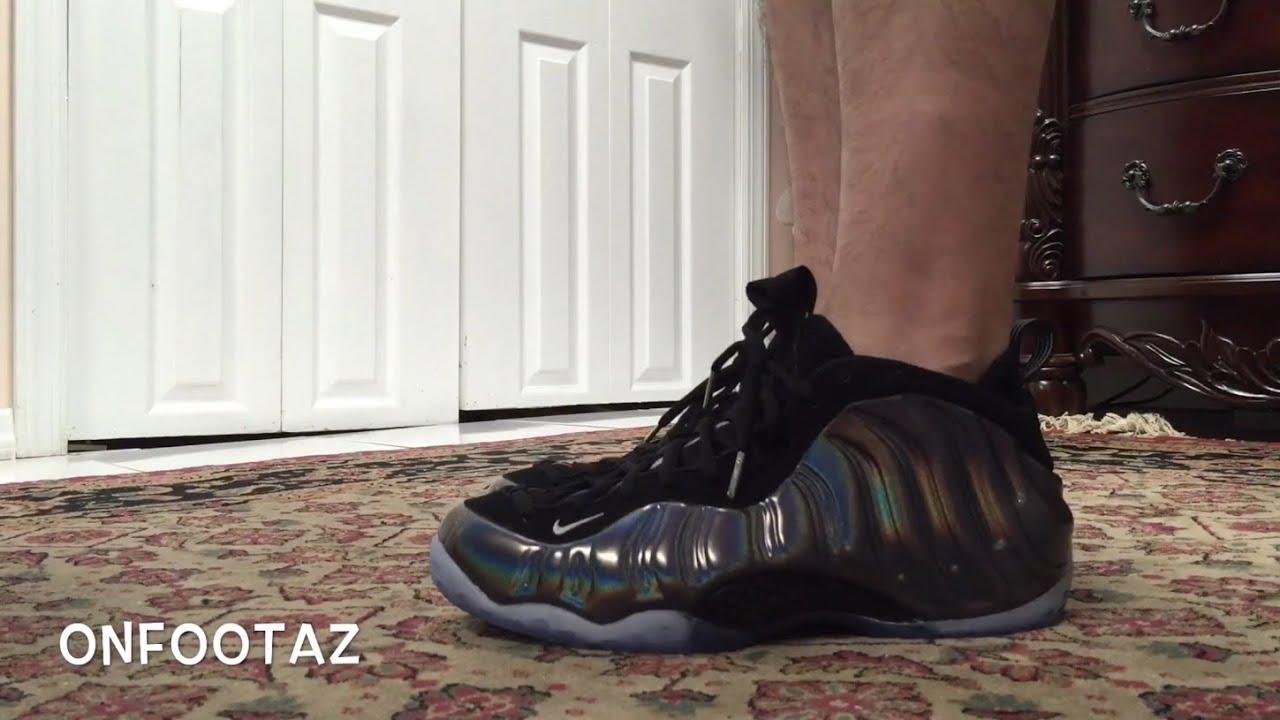 c306d39b3b079 Nike Air Foamposite One Hologram On Foot - YouTube