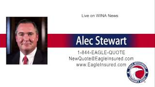 8/17/15 → Alec Stewart at Eagle Independent Insurance Agency live on Virginia Radio
