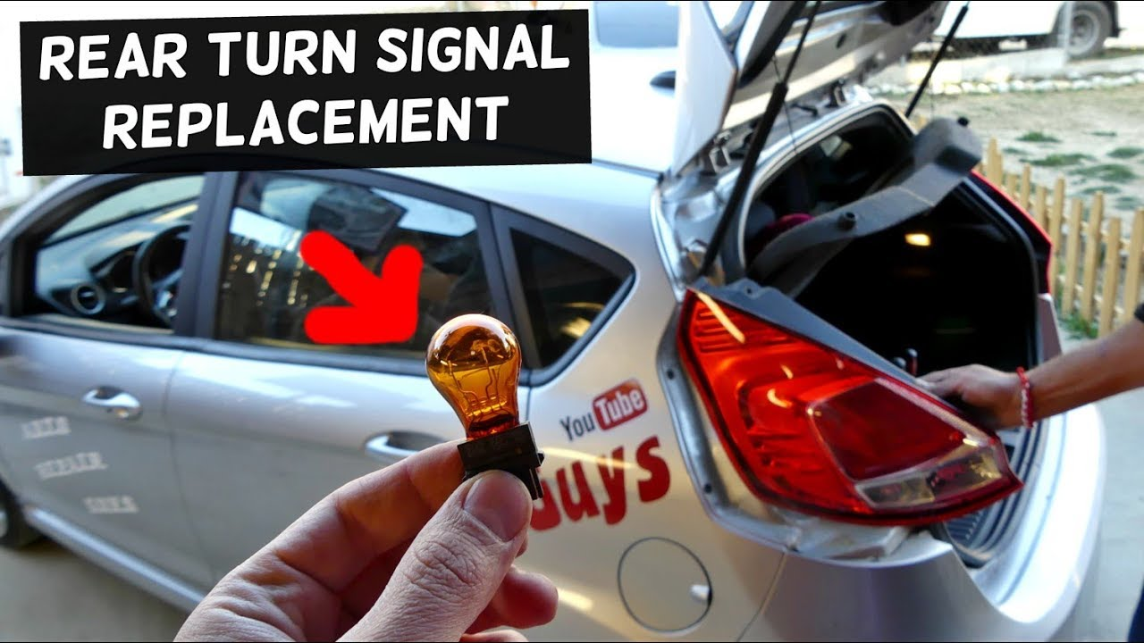 Ford Fiesta Rear Turn Signal Light Bulb Replacement