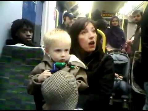 Crazy British woman on London transport