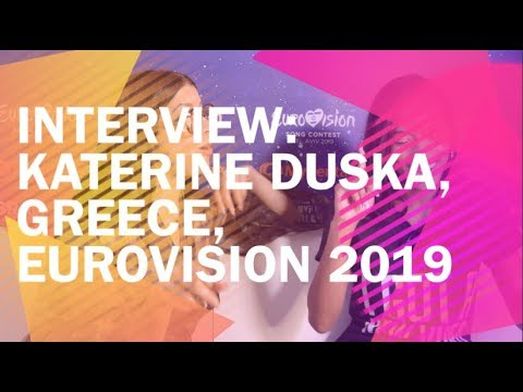 Interview: Katerine Duska, Greece, Eurovision 2019