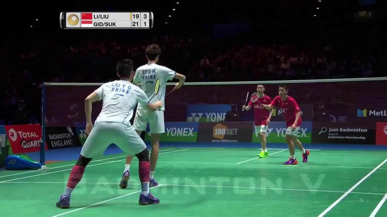 FINAL ALL ENGLAND 2017 Kevin Sanjaya Marcus Fernaldi INA vs LI