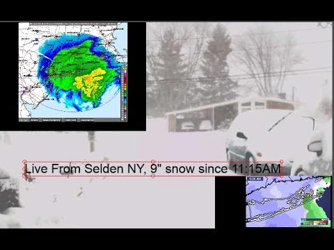 Long Island Blizzard NIKO - SKYWARN (previously Recorded) LONG ISLAND WEATHER MAP - Suffolk County