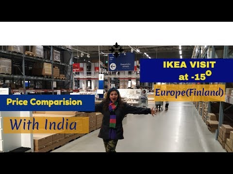 How Is IKEA Store In Finland(Europe)  At -15 Degrees With Price Conversion From Euros To Rs