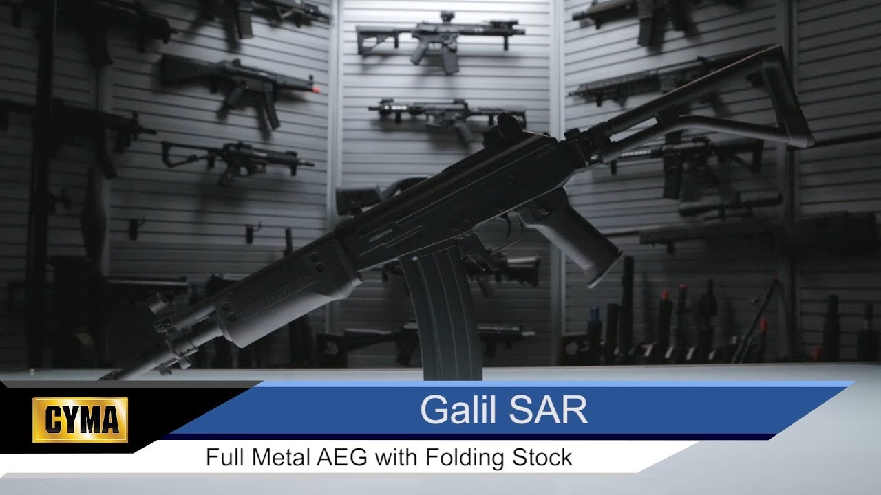 CYMA Galil SAR Metal Full Size Airsoft AEG with Folding Stock (Package: Gun  Only)