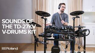 Sounds of Roland V-Drums TD-27KV Electronic Drum Kit