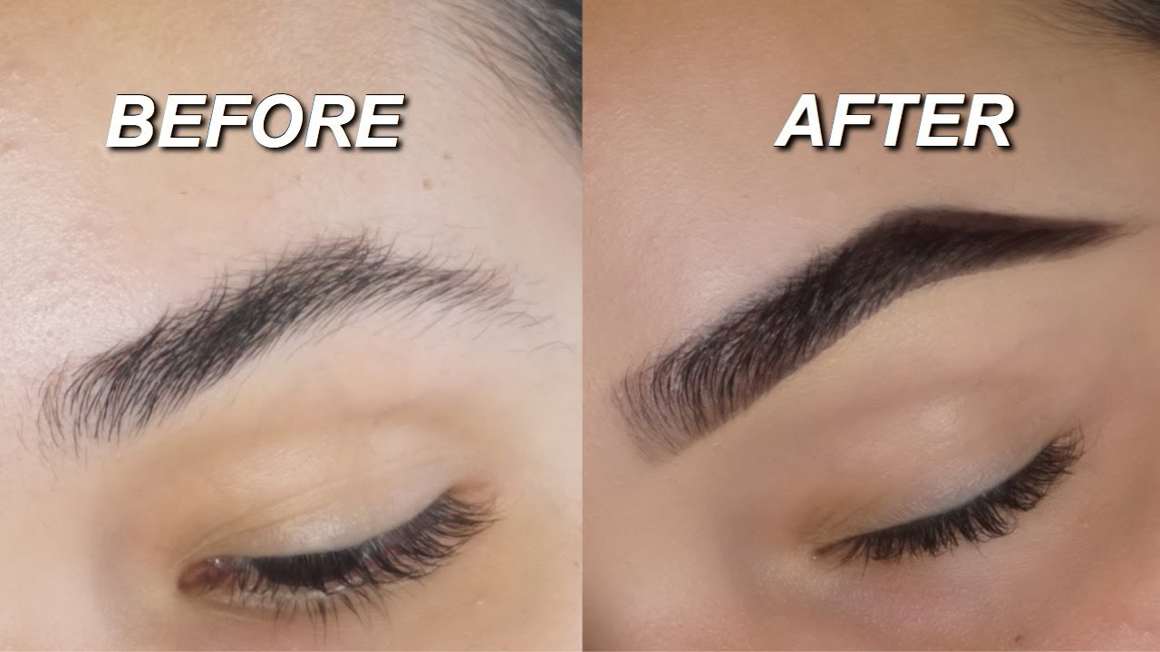 HOW I SHAVE & DO MY EYEBROWS - YouTube