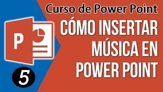 Como agregar musica en power point