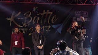 """ TOP 5 "" ( OG-ANIC - PETER SMOKE - 3F - WERS1 - CRAZY J ) @K Battle 2017 (Korat)"