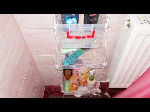 Подвесные полки в ванную за 20 минут и всего за 3$ своими руками лайфхак Дёшево надёжно и практично!