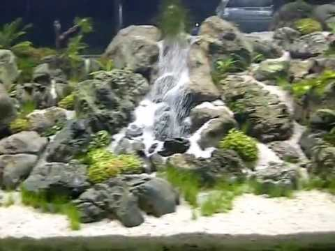 Riam macam aquajaya main tank an underwater waterfall for Aquarium waterfall decoration
