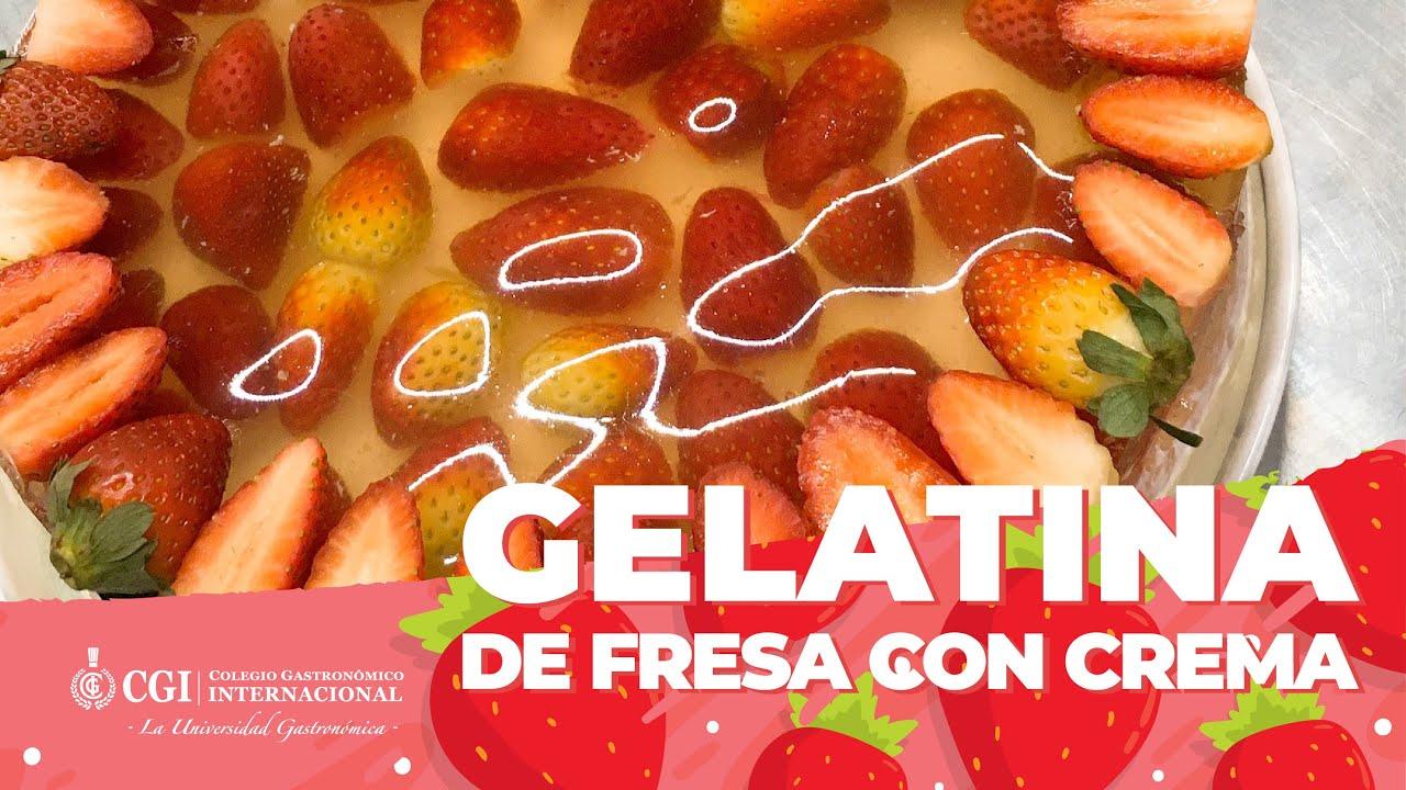 Gelatina de Fresa con Crema