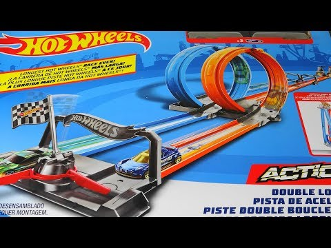 HOT WHEELS DOUBLE LOOP DASH CAR RACE TOURNAMENT AND TOY REVIEW