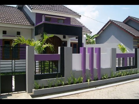 Model Pagar Rumah Minimalis 2019 Pagar Tembok Dan Batu Alam - YouTube