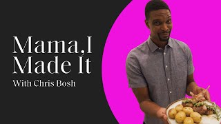Chris Bosh Shares His Seared Lamb Chop & Crispy Rosemary Potato Recipe with ELLE I Mama, I Made It