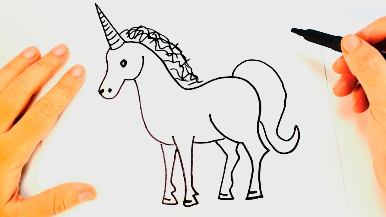 Cómo Dibujar Un Unicornio Para Niños Dibujo De Unicornio Paso A Paso