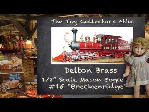 1983 Delton Locomotive Works 1/2 Inch Scale Brass Mason Bogie