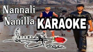 Nannali nanilla kannada Song original Karaoke with lyrics || KARIYA ||