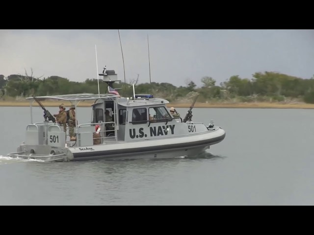 Aboard the Very Fast US Navy Patrol Boat With M2 Machine Gun HD