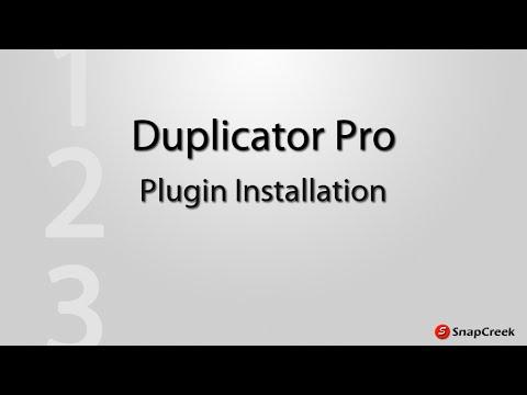 Duplicator Pro - Plugin Installation