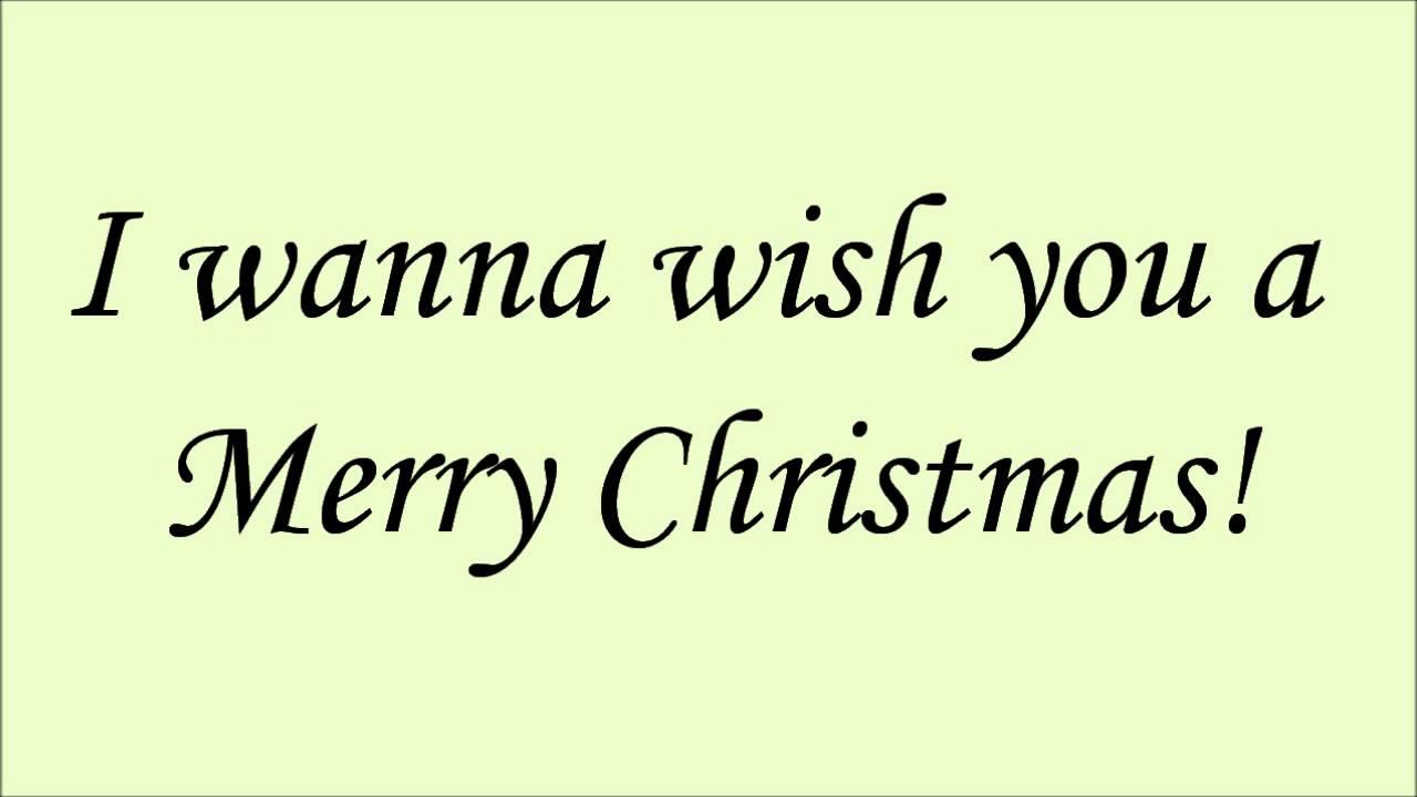 Glee - Feliz Navidad (Lyrics) HD - YouTube