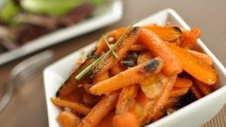 Brown Butter and Ginger Glazed Baby Carrots