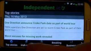 The Irish Independent Android News App Review - The Irish Independent Newspaper