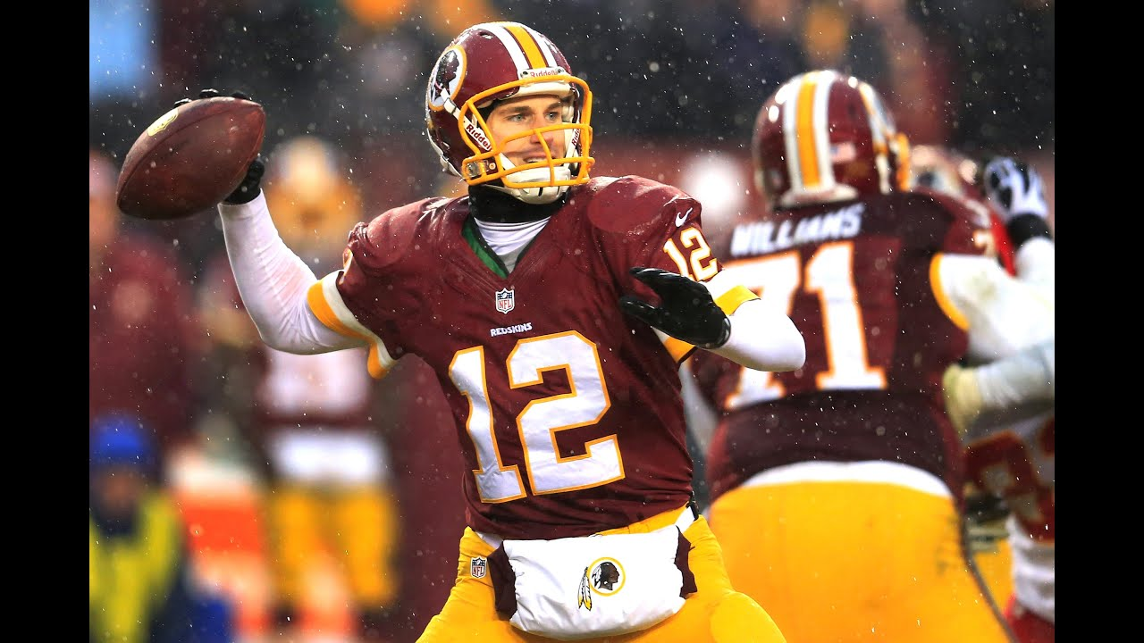 Kirk Cousins about to throw. With so many talented players around him, it would be tough to imagine Cousins struggle to reach 4,000 yards.