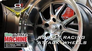 Rocket Racing Attack Wheels Preview at Street Machine Summer Nationals Video V8TV